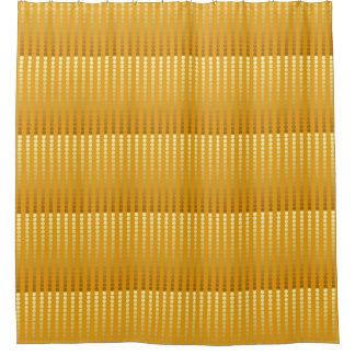 Satin dots - gold and mustard shower curtain