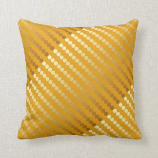 Satin dots - gold and mustard throw pillow