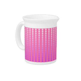 Satin dots - pink and orchid drink pitcher