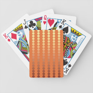Satin dots - rust and gold bicycle playing cards