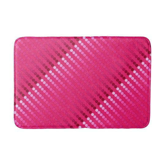 Satin Dots Shades Of Fuchsia Pink Bath Mat Zazzle Com