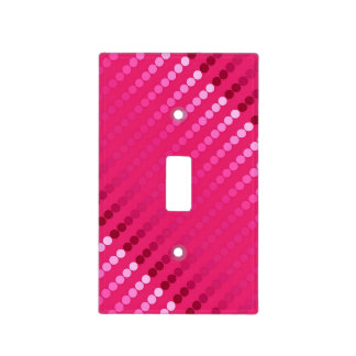 Satin dots - shades of fuchsia pink switch plate covers