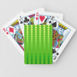 Satin dots - shades of lime green bicycle playing cards
