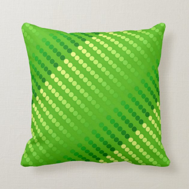Satin Dots Shades Of Lime Green Throw Pillow Zazzle Com