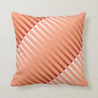 Satin dots - shades of peach pillows