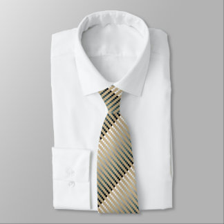 Satin dots - taupe and pewter gray neck tie