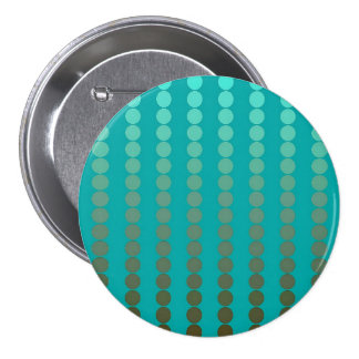 Satin dots - turquoise and pewter gray button