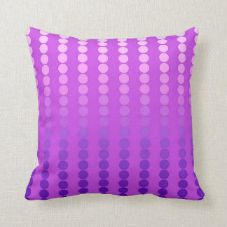 Satin dots - violet and orchid throw pillow