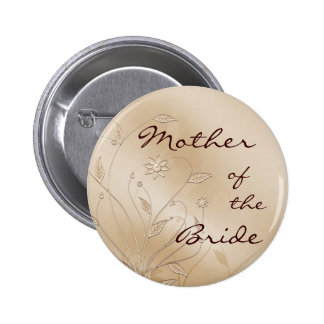 Satin Elegance Mother of the Bride Pinback Buttons
