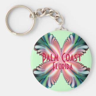 Satin Fleur, Palm Coast, Florida Keychain