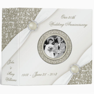 Satin Flourish 30th Wedding Anniversary Binder