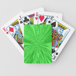 Satin- Green Bicycle Playing Cards