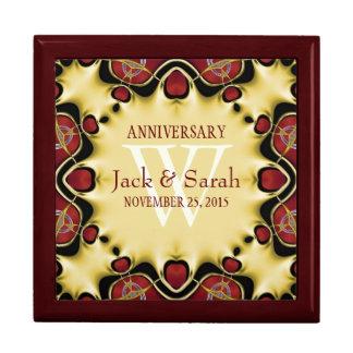 Satin Hearts Decorative Anniversary Gift Box