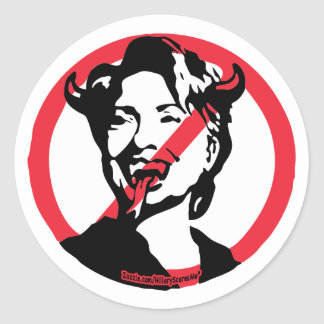 Satin Hillary Anti-Hillary Sticker