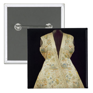 Satin Hunting Coat Embroidered with Silks in Button