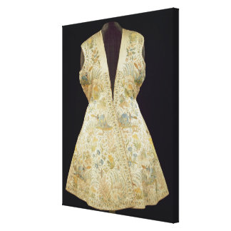Satin Hunting Coat Embroidered with Silks in Canvas Print