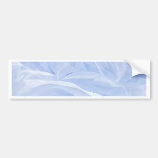 satin ice blue silk elegant chic textile pattern bumper sticker