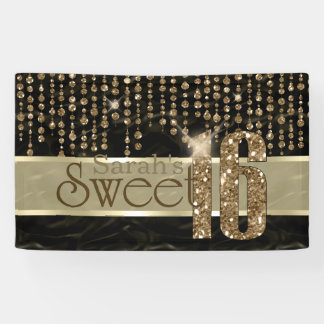 Satin Jewel Sweet Sixteen Black Gold ID260 Banner