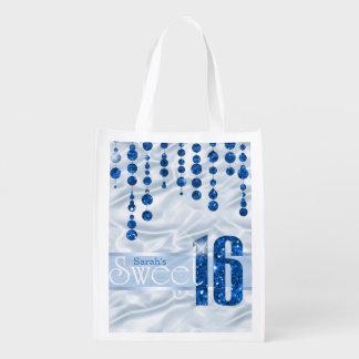 Satin Jewel Sweet Sixteen Blue ID260 Market Totes