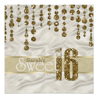 Satin Jewel Sweet Sixteen Gold ID260 Poster