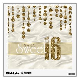 Satin Jewel Sweet Sixteen Gold ID260 Wall Sticker
