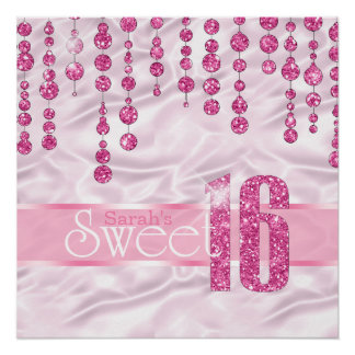 Satin Jewel Sweet Sixteen Pink ID260 Poster