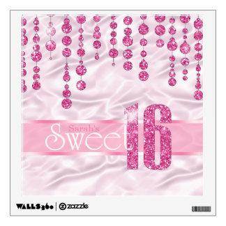 Satin Jewel Sweet Sixteen Pink ID260 Wall Sticker