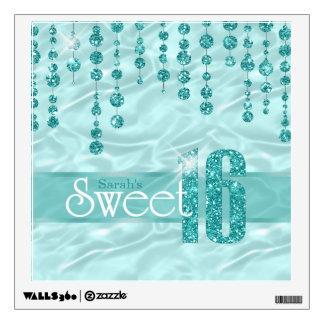Satin Jewel Sweet Sixteen Teal ID260 Wall Sticker