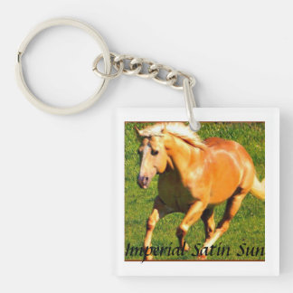 Satin Key Chain~ Square Acrylic Keychain