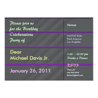 Satin Luxury Chrome with Sample Text 5x7 Paper Invitation Card