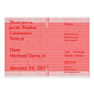 Satin Luxury Orange  with Sample Text 2 5x7 Paper Invitation Card