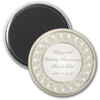 Satin Pearl 30th Wedding Anniversary Magnet