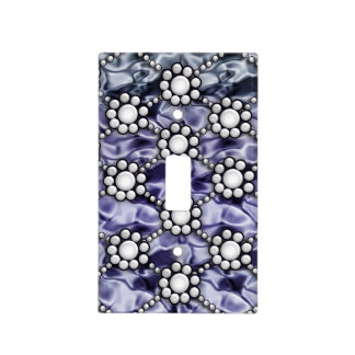satin pearl blue light switch cover