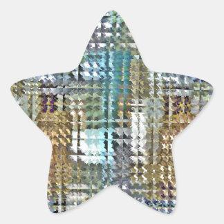 Satin Quilt Star Sticker