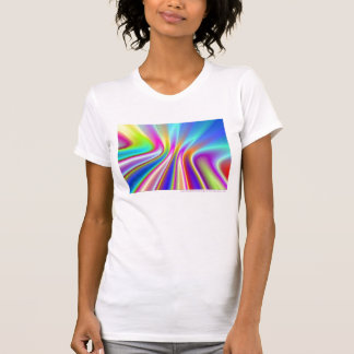 Satin Rainbow Fractal Shirt - Ladies Casual Tank