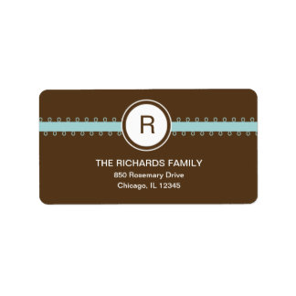 Satin Ribbon Address Label - Blue Address Label