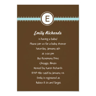 Satin Ribbon Baby Shower Invitation - in Blue Personalized Announcements