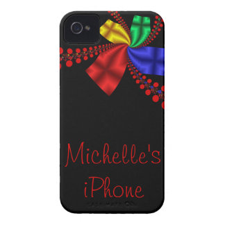Satin Ribbons and Red Dots iPhone 4 Case-Mate Case