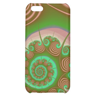 Satin Seashell Spiral Fractal Cover For iPhone 5C