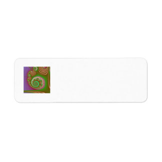 Satin Seashell Spiral Fractal Label