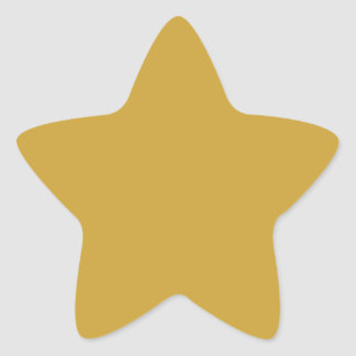 Satin Sheen Gold High End Complementary Color Star Sticker
