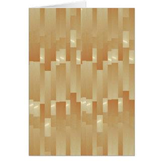 Satin Silk Golden Strips - Shadow Art101 Greeting Card
