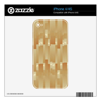 Satin Silk Golden Strips - Shadow Art101 iPhone 4S Skin