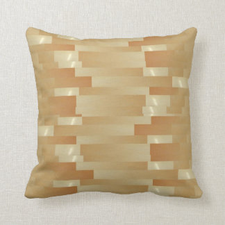 Satin Silk Golden Strips - Shadow Art101 Throw Pillow