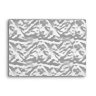 Satin Silk Luxury Silver Pattern - Graphic Design Envelope