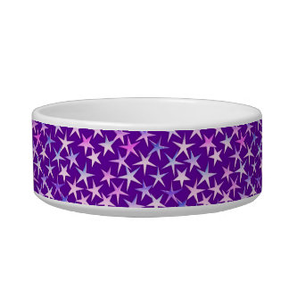 Satin stars, lavender on purple bowl