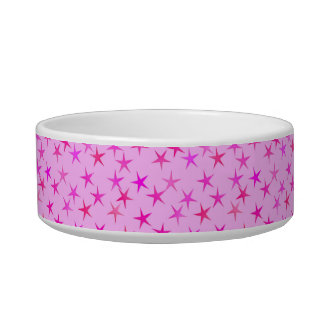 Satin stars, orchid on pale pink bowl