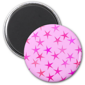 Satin stars, orchid on pale pink magnet