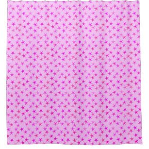 Satin Stars, Orchid On Pale Pink Shower Curtain