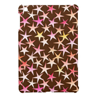 Satin stars, pink on chocolate cover for the iPad mini